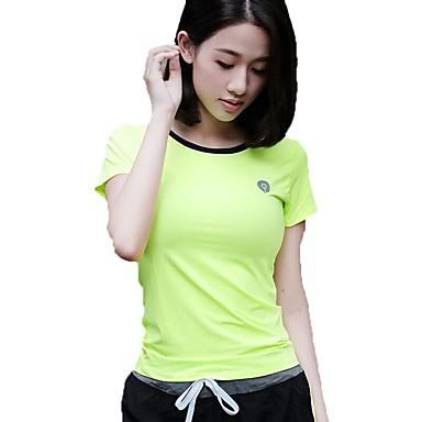 Damen Laufshirt Sport T-shirt / Oberteile Yoga, Übung & Fitness, Laufen Kurzarm Rasche Trocknung, Atmungsaktiv