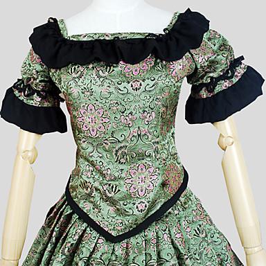 Klassinen ja Perinteinen Lolita Vintage-kokoelma Nauhat Viktoriaaninen Naisten Asut Cosplay Lyhythihainen