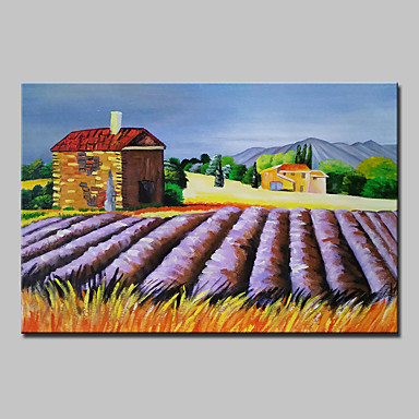 Hang malte oljemaleri Håndmalte - Landskap Klassisk Parfymert Inkluder indre ramme / Stretched Canvas