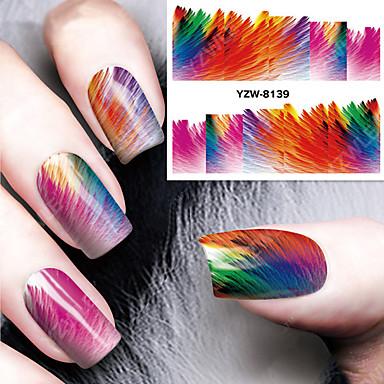 1 Nagel-Kunst-Aufkleber Wassertransfer Abziehbilder Make-up kosmetische Nail Art Design