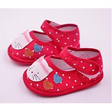 Kinder Baby Flache Schuhe Lauflern Stoff Normal Lauflern Schwarz Rot Rosa Flach
