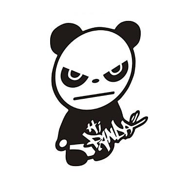 komik merhaba panda araba sticker araba pencere duvar çıkartma araba styling