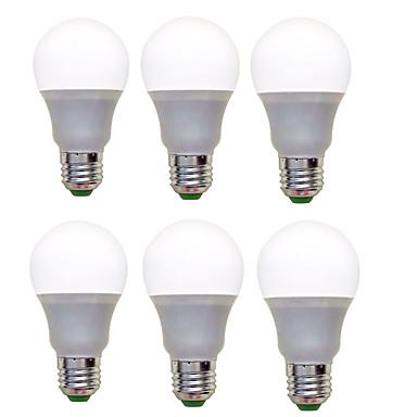 6pcs 1200lm E26 / E27 LED-globepærer A60(A19) 12 LED perler SMD 2835 Dekorativ Varm hvit Kjølig hvit 220-240V