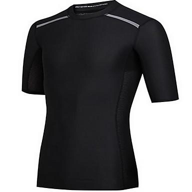 Herrn Kurzarm Laufen Sweatshirt Rasche Trocknung Atmungsaktiv Schweißableitend Frühling Sommer Herbst SportbekleidungÜbung & Fitness