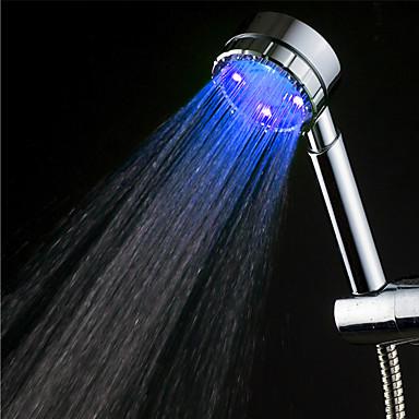 Moderne Handdusche Chrom Eigenschaft-Umweltfreundlich LED , Duschkopf