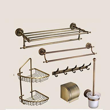 浴室用品セット クイックリリース 新古典主義 真鍮