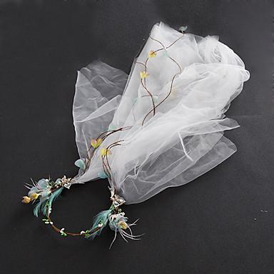 成人用 チュール 人造真珠 ファブリック ネット かぶと-結婚式 パーティー カジュアル ヘッドドレス コサージュ バードケージベール ティアラ 1個