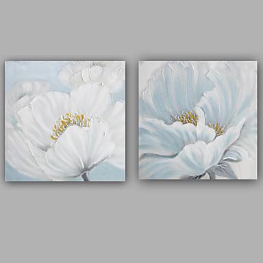 Hang malte oljemaleri Håndmalte - Blomstret / Botanisk Klassisk / Europeisk Stil Lerret / Stretched Canvas