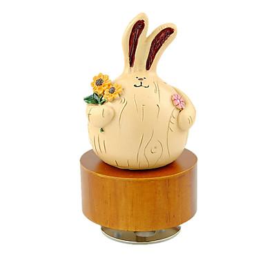 オルゴール Rabbit サーキュラー 趣味&レジャーグッズ ノベルティ柄 サウンド ウッド ゴム 男の子用 女性´