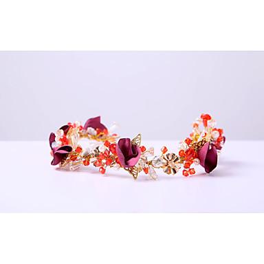 sifonki kristalli rhinestone alloy headbands headpiece tyylikäs tyyli