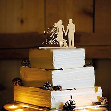 Kagedekorationer Sommerfugl Tema Klassisk Par Harpiks Bryllup med 1 OPP
