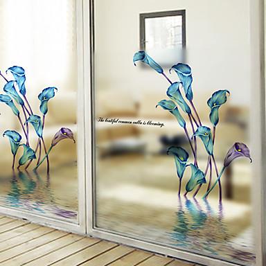 Ventana de película y pegatinas Decoración Moderno Floral PVC / Vinilo Adhesivo para Ventana