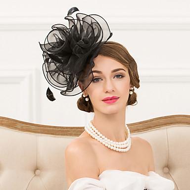 女性用 羽毛 かぶと-結婚式 パーティー カジュアル ヘッドバンド ヘッドドレス