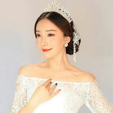 Damen Künstliche Perle Strass Aleación Kopfschmuck-Hochzeit Besondere Anlässe Normal Tiara 1 Stück