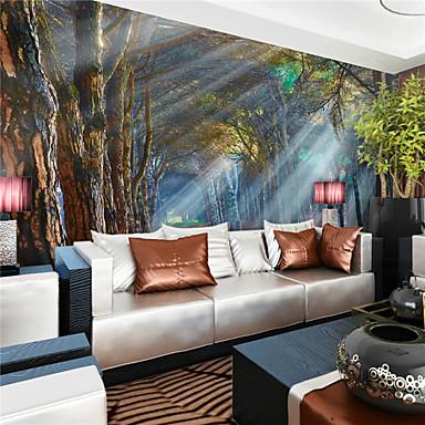 Art Deco 3D Kodinsisustus Nykyaikainen Seinäpinnat, Kangas materiaali liima tarvitaan Seinämaalaus, huoneen Tapetit