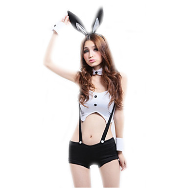 0679edc576f95 Women's Bunny Girl Career Costumes Sex Cosplay Costume Party Costume Solid  Colored Top Pants Headwear #05466459