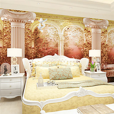 Art Deco 3D Decoração para casa Retro Revestimento de paredes, Tela de pintura Material adesivo necessário Mural, Cobertura para Paredes