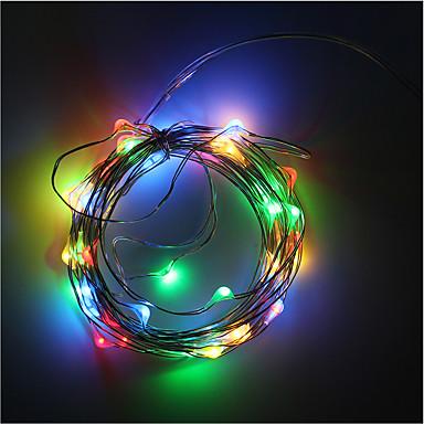 Faixas de Luzes RGB 50 LEDs Branco Quente RGB Branco Verde Azul Vermelho Decorativa