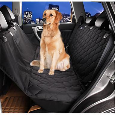 Cachorro Cobertura de Cadeira Automotiva Animais de Estimação Capachos e Alcochoadas Prova-de-Água Dobrável Preto Para animais de