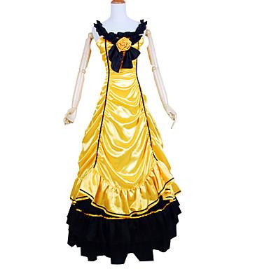 Keskiaika Viktoriaaninen Asu Naisten Asut Vintage Cosplay Charmeuse-silkki Hihaton