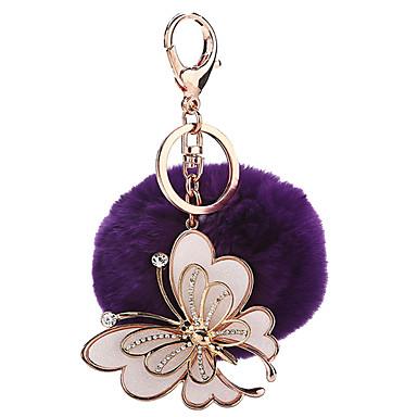 Pallot Avainketju Lelut Avainketju Sfääri Butterfly Metalli Plyysi 1 Pieces Tyttöjen Joulu Syntymäpäivä Ystävänpäivä Lahja