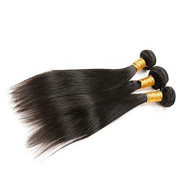 Menschenhaar spinnt Brasilianisches Haar Gerade 6 Monate 3 Stück Haar webt