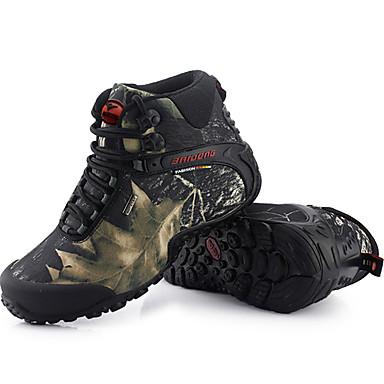 Hombre Zapatillas de deporte / Botas de nieve / Zapatos de Montañismo Goma Esquí / Senderismo Impermeable, Transpirable, A prueba de resbalones Goma / Cuero Gris / Caqui