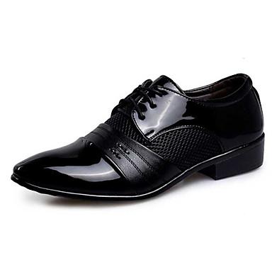 Hombre Zapatos formales PU Primavera / Otoño Oxfords Impermeable Negro / Marrón Claro / Boda / Fiesta y Noche / Novedad Zapatos