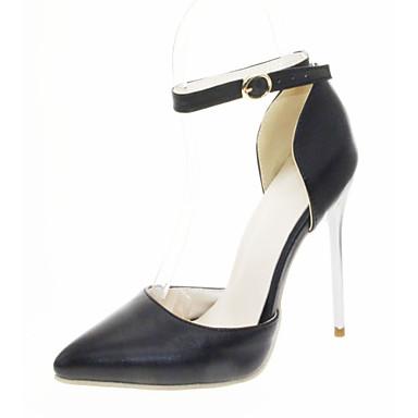 Mulheres Sapatos Courino Couro Ecológico Primavera Verão Conforto Inovador Saltos Caminhada Salto Agulha Dedo Apontado para Social Festas