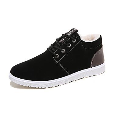 Herre sko Tekstil Vår Høst Slouch Støvler Komfort Støvler Svart Grå Blå