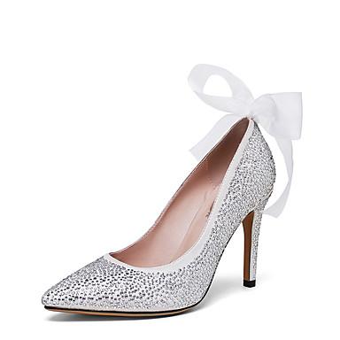 Damen-High Heels-Hochzeit Kleid Party & Festivität-maßgeschneiderte Werkstoffe-Stöckelabsatz-Andere-Silber