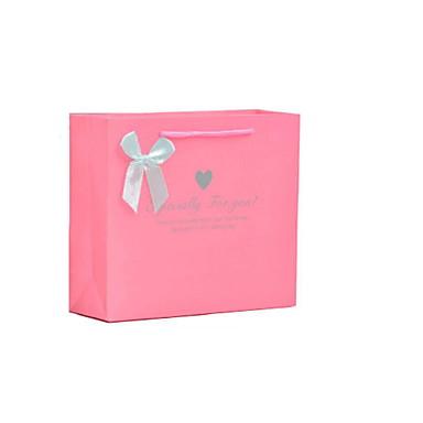 ylellisyyttä lahja paperikassit custom käsilaukut rakkaus pinkki purppura pussit häälahjaksi pussit pakkaus viisi