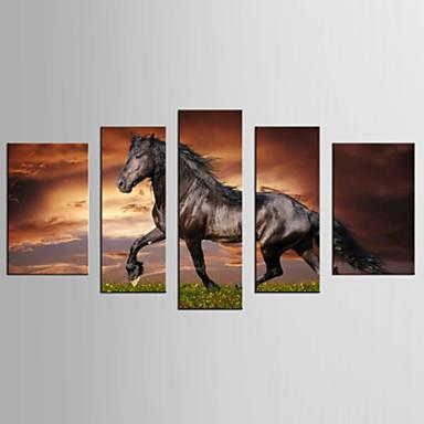 Leinwand-Set Berühmte Tier Realismus Modern,Fünf Panele Leinwand Jede Form Druck-Kunst Wand Dekoration For Haus Dekoration