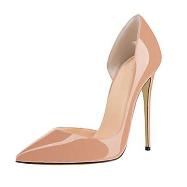 Mujer Zapatos PU Primavera Verano Otoño Tacones Tacón Stiletto Dedo Puntiagudo Perla para Casual Fiesta y Noche Blanco Negro Rosa eWYiX76I