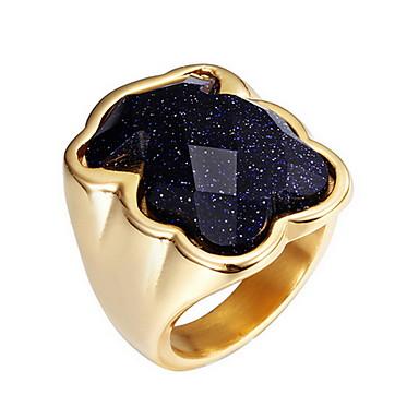 Damen Ring Kristall Weiß Schwarz Grau Grün Blau Zirkon 18K Gold Aleación Modisch Alltag Normal Modeschmuck