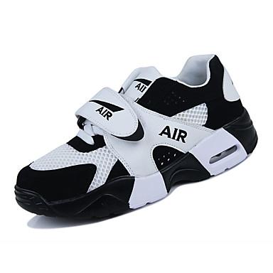 Homens sapatos Couro Ecológico Primavera / Outono Conforto Tênis Corrida Branco / Preto