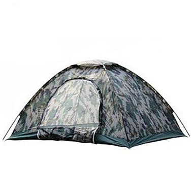 3-4 Personen Zelt Dreifach Camping Zelt Einzimmer Wasserdicht Tragbar Windundurchlässig Staubdicht Anti-Insekten Klappbar Extraleicht(UL)