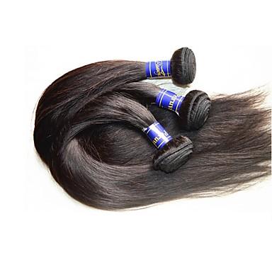 Extensiones de Pelo Natural Cabello Peruano Clásico Pelo Natural Remy Tejidos Humanos Cabello El cabello humano teje Negro