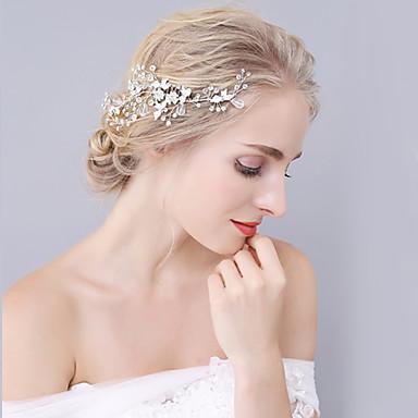 كريستال / حجر الراين / سبيكة فرش تمشيط للشعر / أغطية الرأس مع ورد 1PC زفاف / مناسبة خاصة خوذة