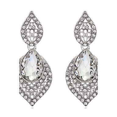 Damen Tropfen-Ohrringe Kristall Krystall Schmuck Für Hochzeit Party Alltag