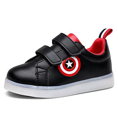 Jungen-Sneaker-Lässig-PU-Flacher Absatz-Komfort-Schwarz Weiß