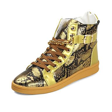 Herrn Schuhe PU Herbst / Winter Komfort Stiefel Gold / Schwarz / Silber