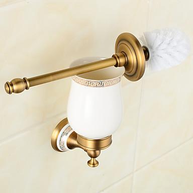 Toalett Børster & Holdere Neoklassisk Messing 1 stk - Hotell bad