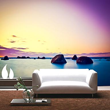 Wandgemälde Segeltuch Wandverkleidung - Klebstoff erforderlich Blumen Art Deco 3D