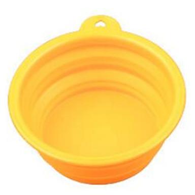 Katze Hund Schalen & Wasser Flaschen Haustiere Schüsseln & Füttern Tragbar Klappbar Gelb Rot Blau
