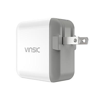 Stasjonær lader Bærbar lader Telefon USB-lader Us Plugg Hurtiglading 1 USB-port 4.8a AC 100V-240V Til mobiltelefon Til tablett