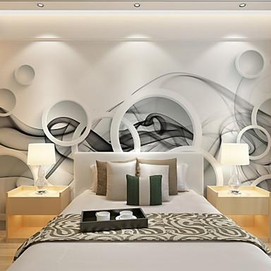 Floral Art Deco 3D Decoração para casa Moderna Revestimento de paredes, Tela de pintura Material adesivo necessário Mural, Cobertura para