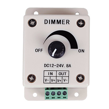 controlador de atenuación pwm para luces led o cinta de 12 voltios 8 ampadjustable controlador de dimmer interruptor de luz del brillo dc12v 8a 96w para luz de tira led