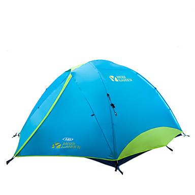 MOBI GARDEN 3-4 Personen Zelt Doppel Camping Zelt Zwei Zimmer Außen Automatisches Zelt warm halten Wasserdicht Tragbar Extraleicht(UL)