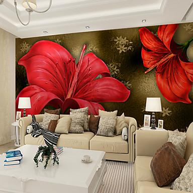 Mural Lona Revestimiento de pared - adhesiva requerida Floral / Art Decó / 3D